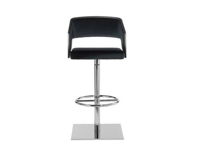 High swivel stool with footrest JOLLY | Stool with footrest by Potocco