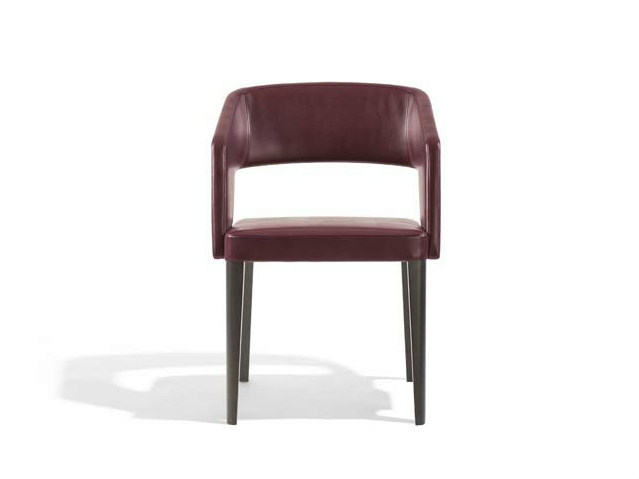 Upholstered chair with armrests JOLLY | Chair with armrests by Potocco