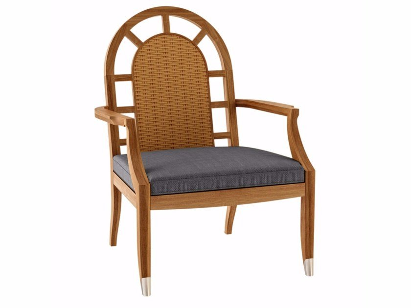 Teak garden armchair with armrests JONQUILLE | Garden armchair by ASTELLO