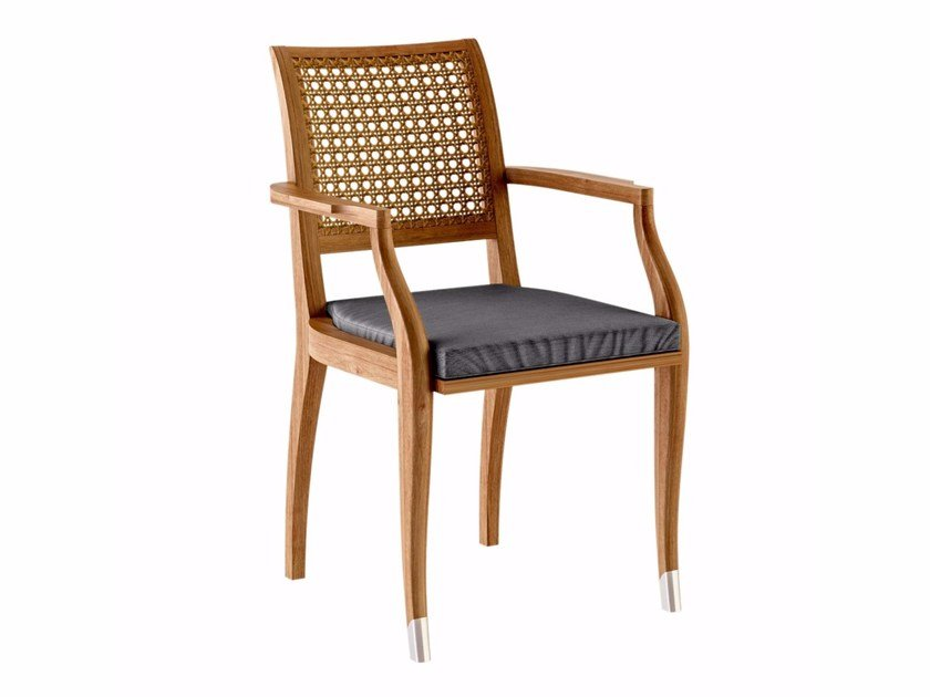 Teak garden chair with armrests JONQUILLE | Chair with armrests by ASTELLO