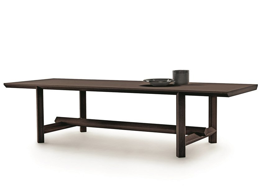 Rectangular solid wood table JOSEF by Mood by Flexform