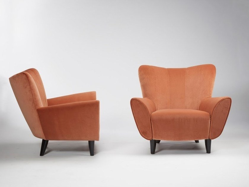 Armchair with armrests JOSH by HUGUES CHEVALIER