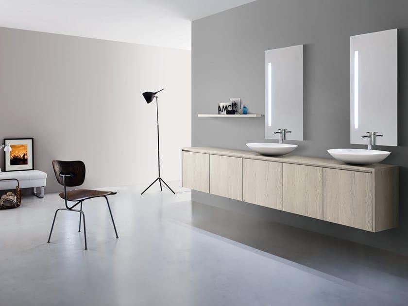Mobile lavabo singolo sospeso in legno joy by cerasa