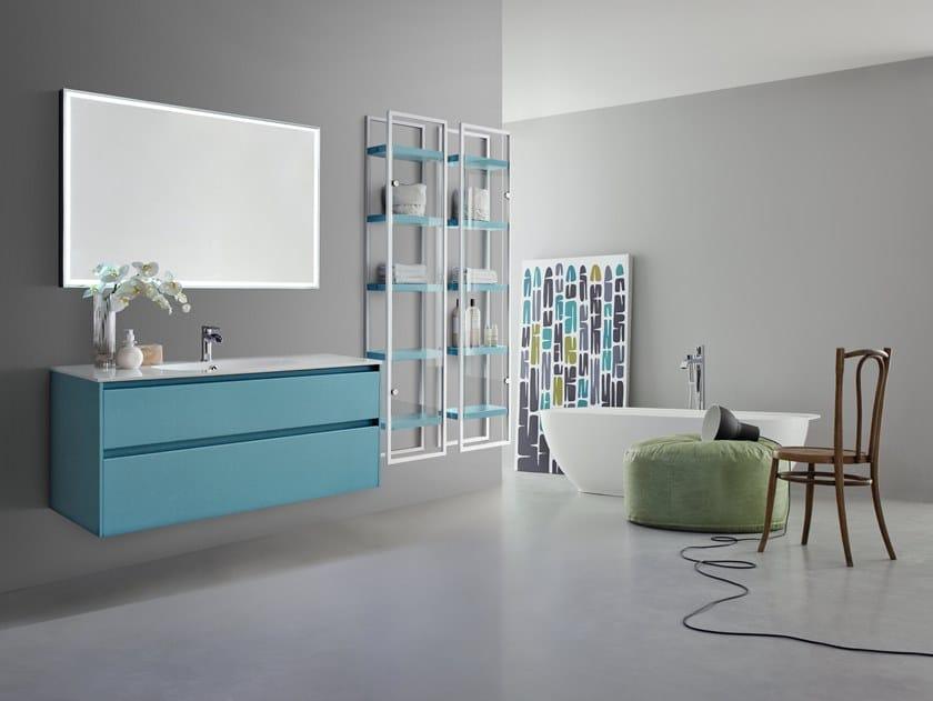 Mobile lavabo singolo sospeso joy 106 107 by cerasa design - Mobile bagno joy ...