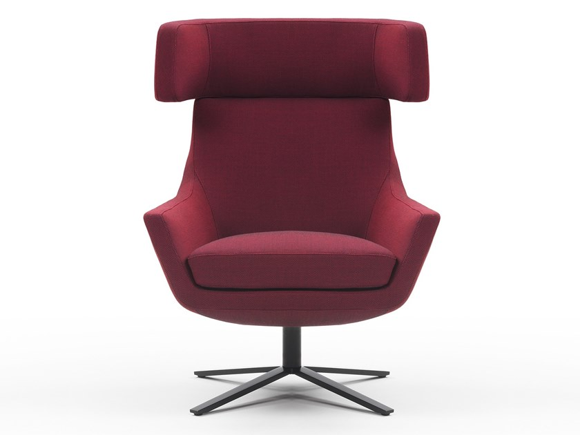 Armchair with 4-spoke base with headrest JOY | Armchair with headrest by Marelli