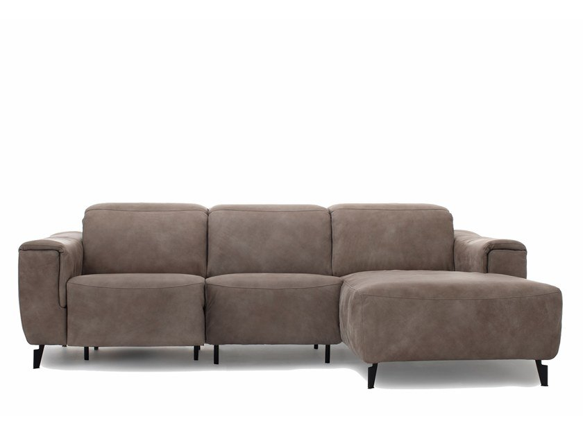 Sectional fabric sofa with electric motion JOY by Extraform