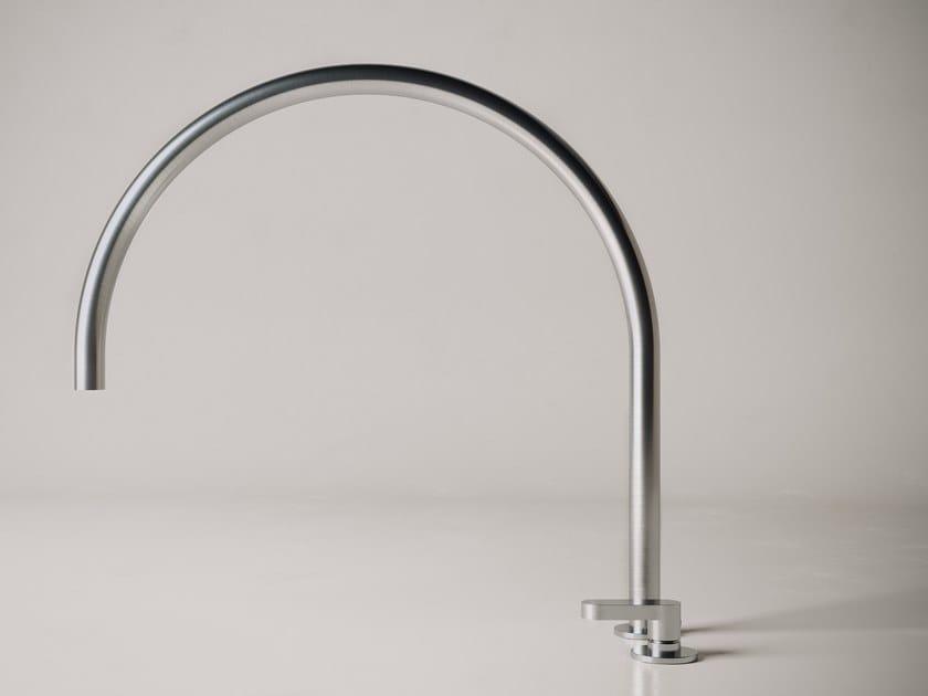 Miscelatore per lavabo a 2 fori in acciaio inox con bocca orientabile JP SET11.4 by COCOON