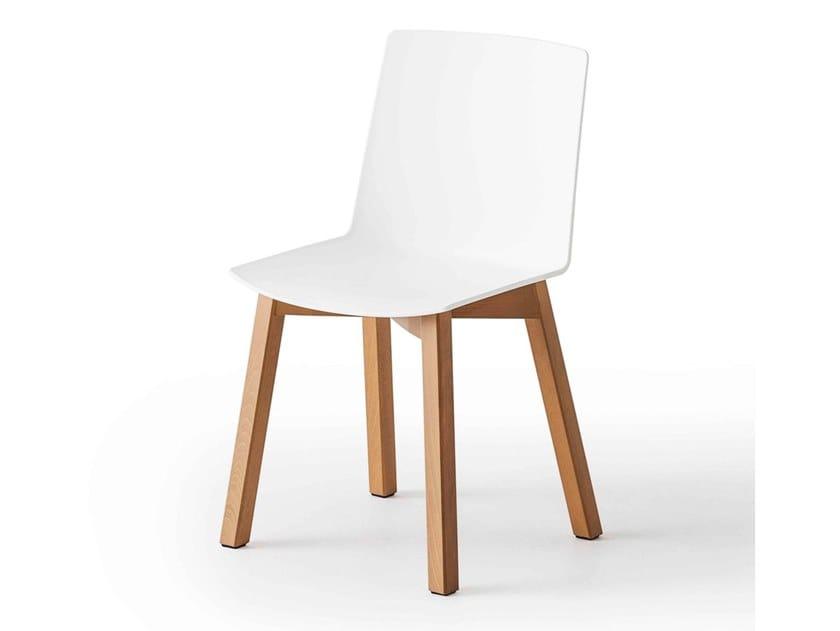 Technopolymer restaurant chair JUBEL BL by GABER