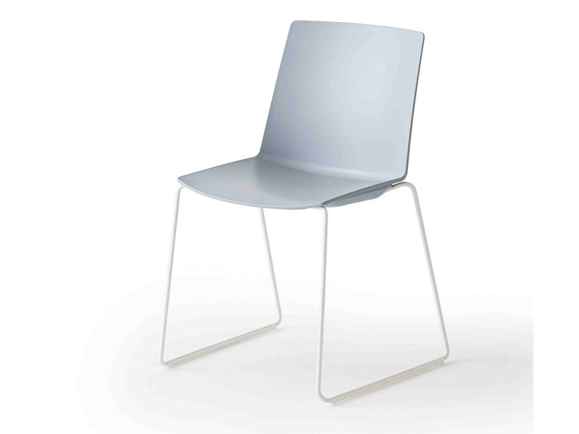Sled base stackable technopolymer chair JUBEL S by GABER