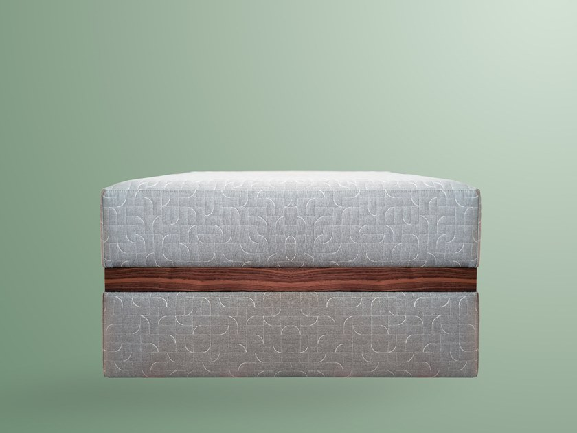 Fabric footstool JUDE by IVAR London