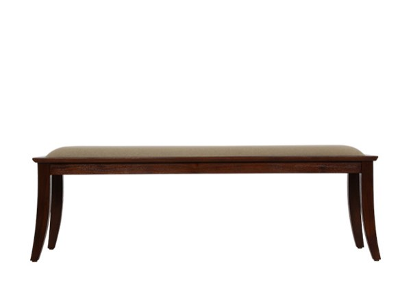 Upholstered teak bench JUJU | Bench by WARISAN