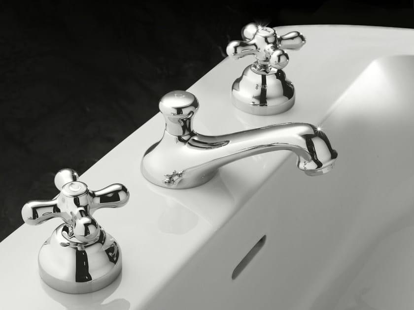 3 hole washbasin tap with automatic pop-up waste JULIA   3 hole washbasin tap by Signorini