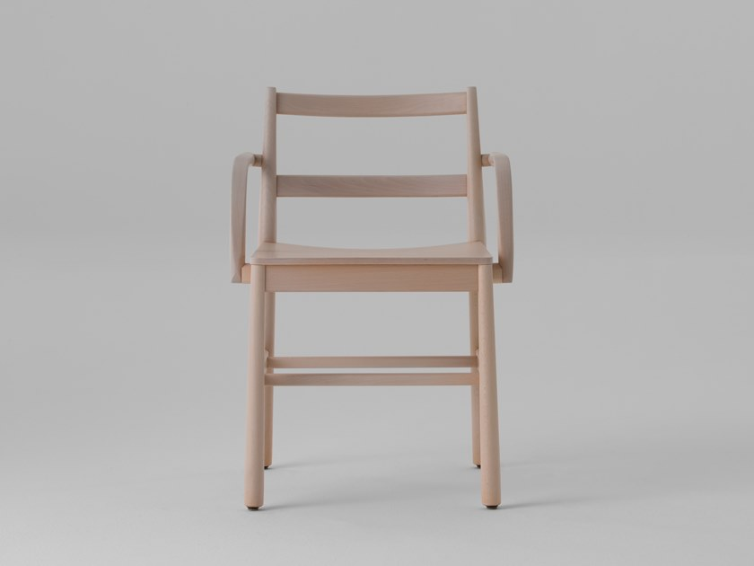 Beech chair with armrests JULIE | Beech chair by TrabA'