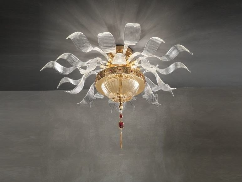 Ceiling lamp with Swarovski® crystals JULIENNE PL8 by Euroluce Lampadari