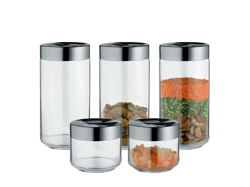 Glass and Stainless Steel food-storage box JULIETA by Alessi