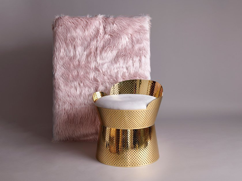 Sedia in acciaio con braccioli con cuscino integrato JULIETTE by Houtique