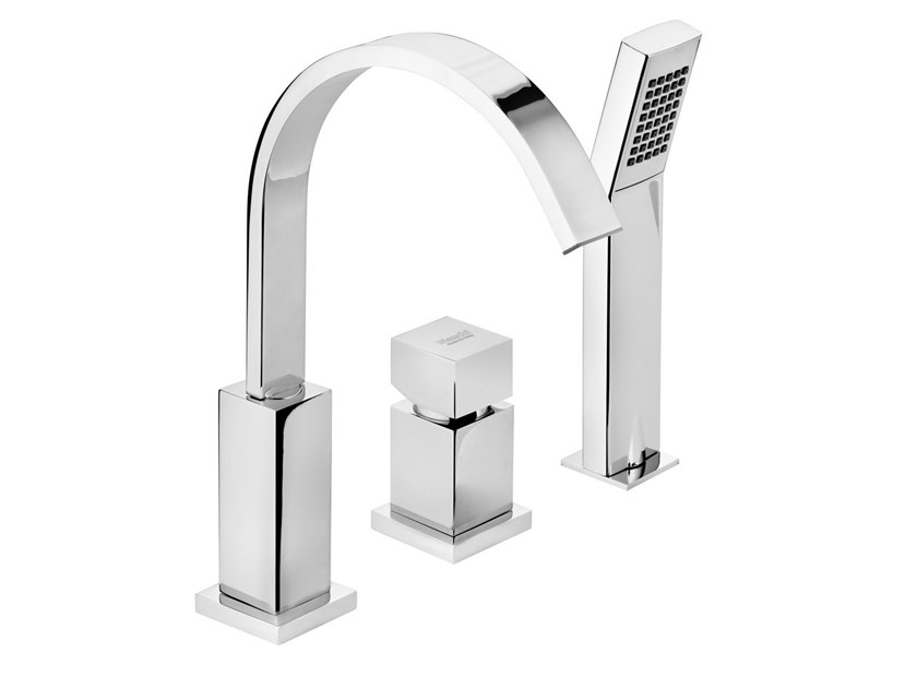 3 hole bathtub set with hand shower JUMP MONO | Bathtub set by BIANCHI RUBINETTERIE