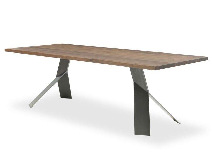 Rectangular walnut table JUMP by Riva 1920