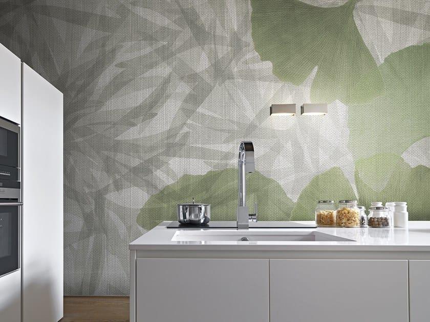 Vinyl or fyber glass wallpaper JUNGLE GINKOBA by N.O.W. Edizioni