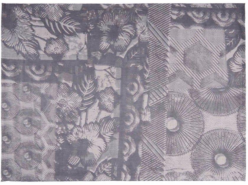 Patterned rectangular cotton rug JUNGLE by Toulemonde Bochart