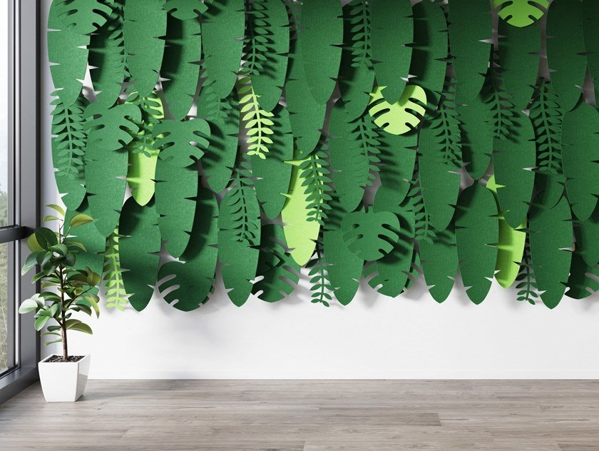 Fabric Decorative acoustic panel JUNGLE WALL by Glimakra of Sweden