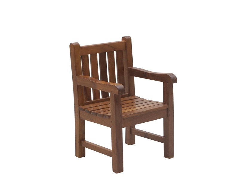 Teak garden chair with armrests JUNIOR | Chair with armrests by Il Giardino di Legno