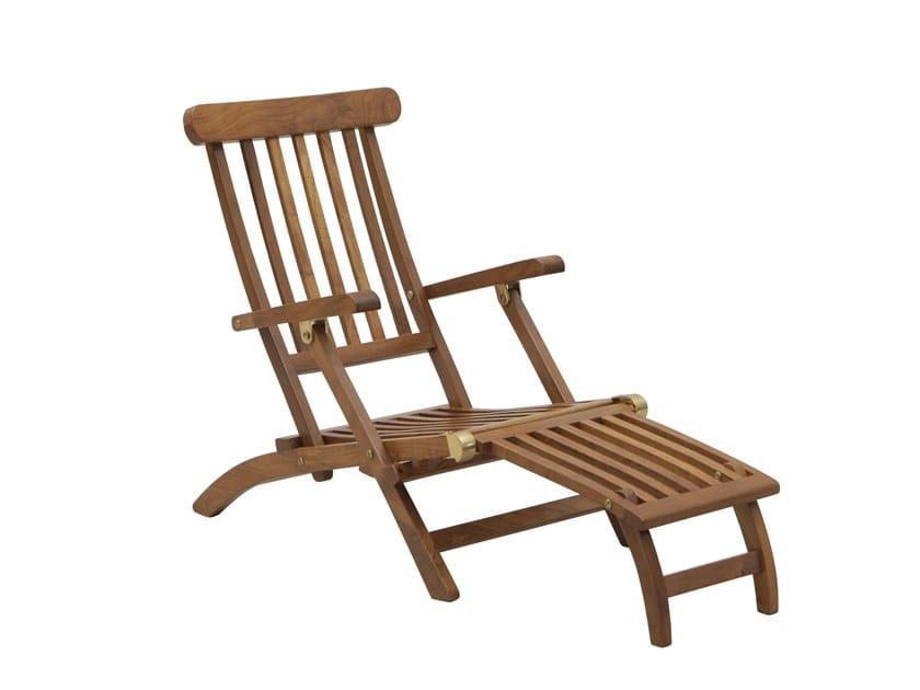 Recliner teak deck chair JUNIOR | Deck chair by Il Giardino di Legno