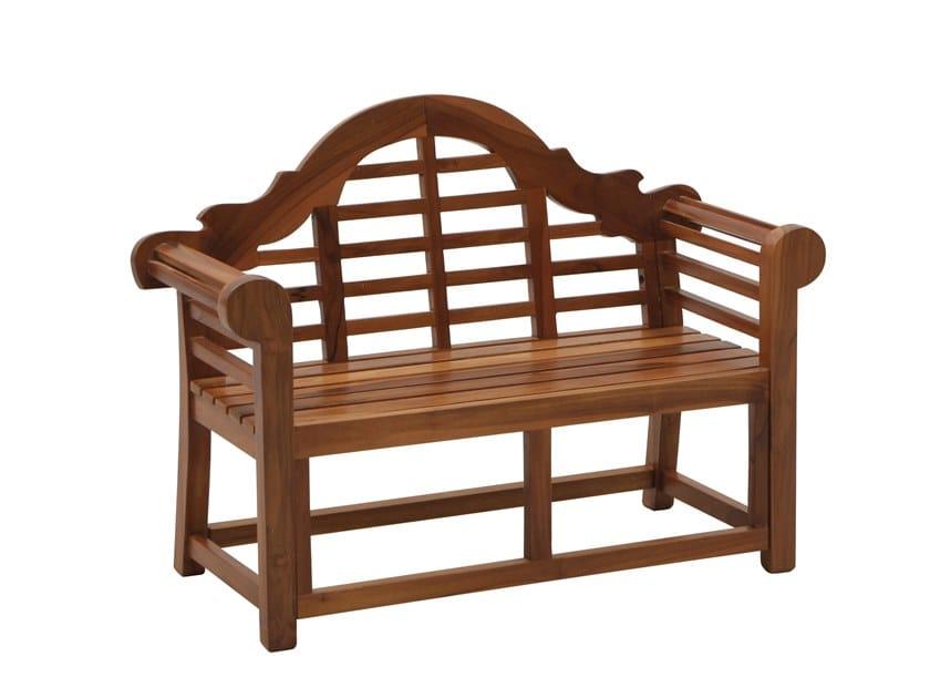 Teak garden bench with armrests JUNIOR   Garden bench with armrests by Il Giardino di Legno