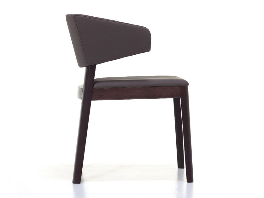 Upholstered ash chair with armrests JUNO | Chair with armrests by Cizeta L'Abbate
