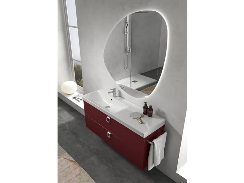 Mobile lavabo sospeso con specchio JUPITER 03 by BMT