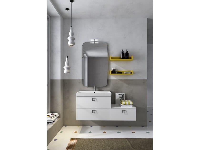 Mobile lavabo sospeso con specchio JUPITER 05 by BMT