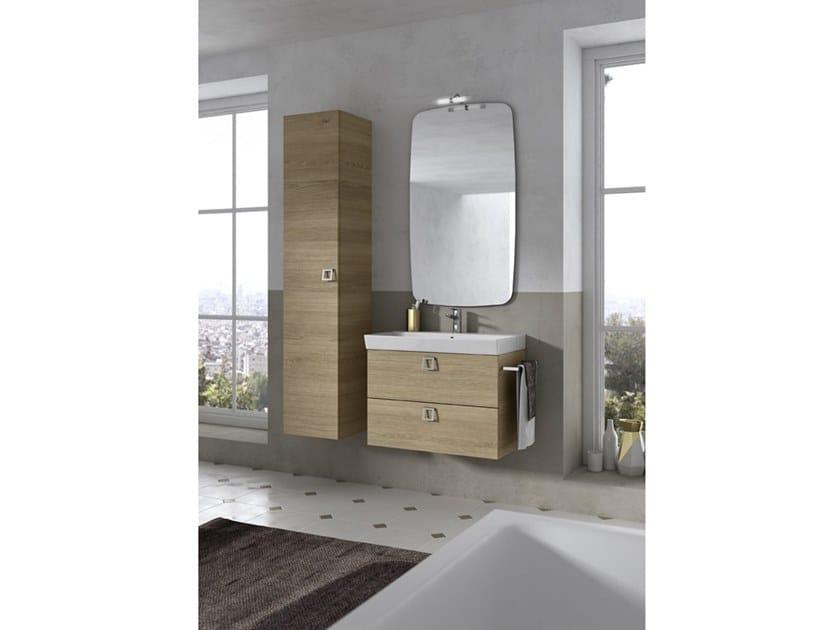 Mobile lavabo sospeso con specchio JUPITER 08 by BMT