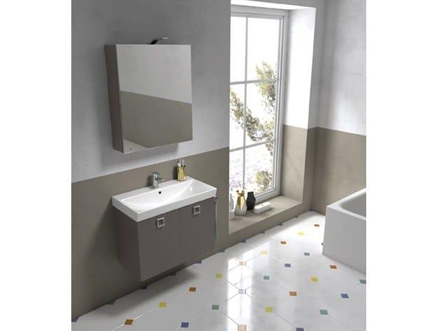 Mobile lavabo sospeso con specchio JUPITER 09 by BMT