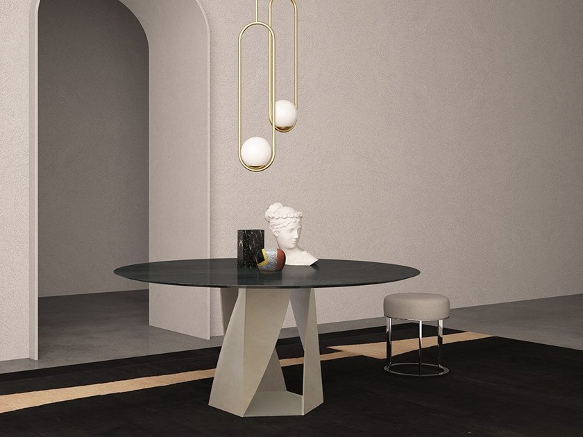 Round marble table JUPITER | Round table by International Marmi