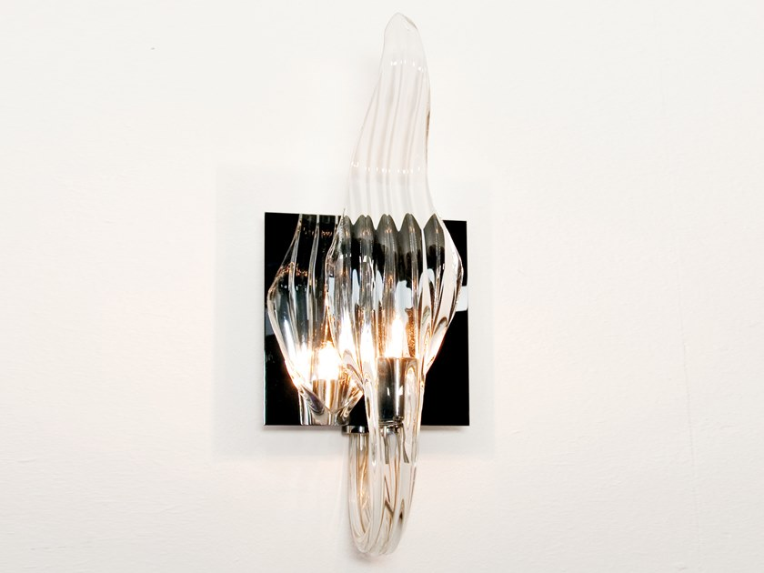 Contemporary style glass wall lamp JUST BE W1 by ILFARI