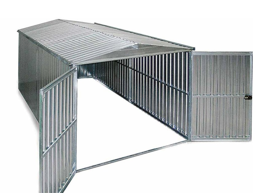 Construction site prefabricated component and garage Jobsite box container by Condor