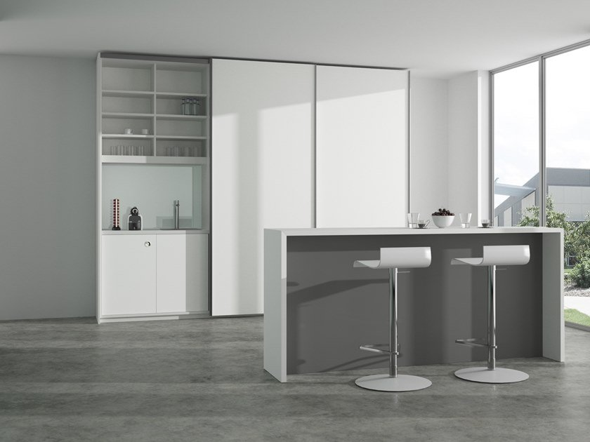 Lacquered high table K-MODUL STAND by werner works