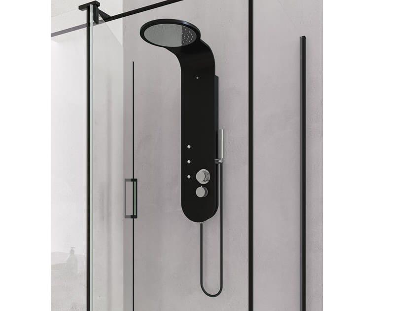 Colonna doccia in Ksolid con getto nebulizzato K-RAIN by Karol