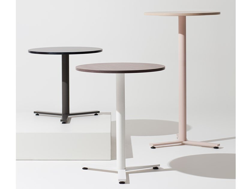 Round wooden high table K-WORD | High table by Manerba
