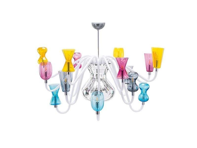 Murano glass chandelier K1 by Purho