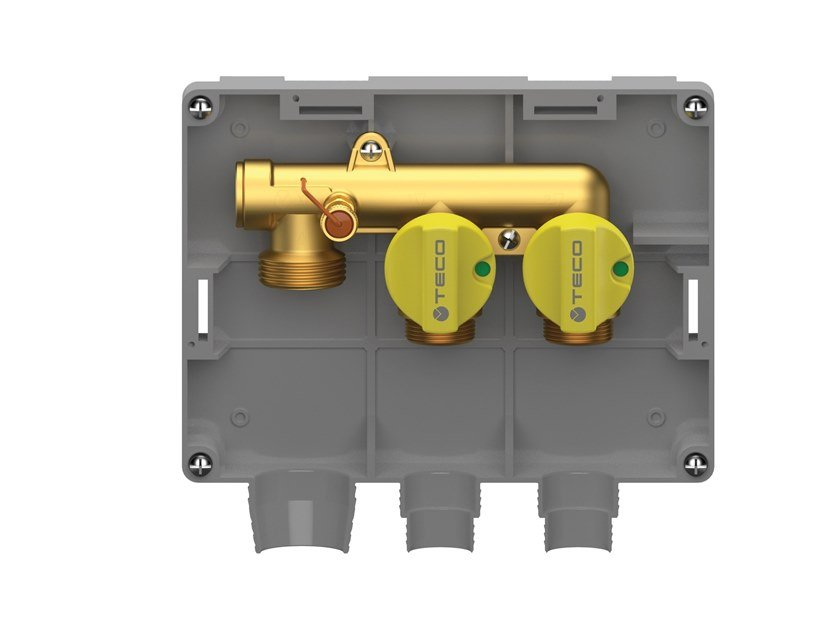 Two-port multiple shut-off gas manifold K2.2 by TECO