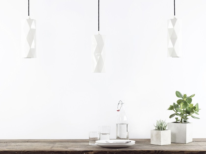 Porcelain pendant lamp [K2] by GANTlights