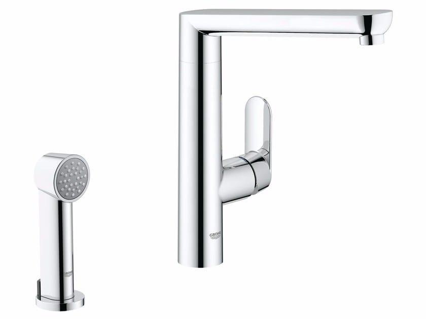 Countertop kitchen mixer tap with swivel spout K7   Kitchen mixer tap with spray by Grohe