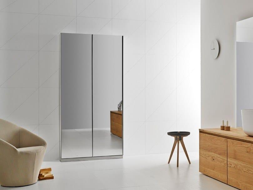 Floorstanding bathroom cabinet with doors with mirror KA   Bathroom cabinet with mirror by INBANI