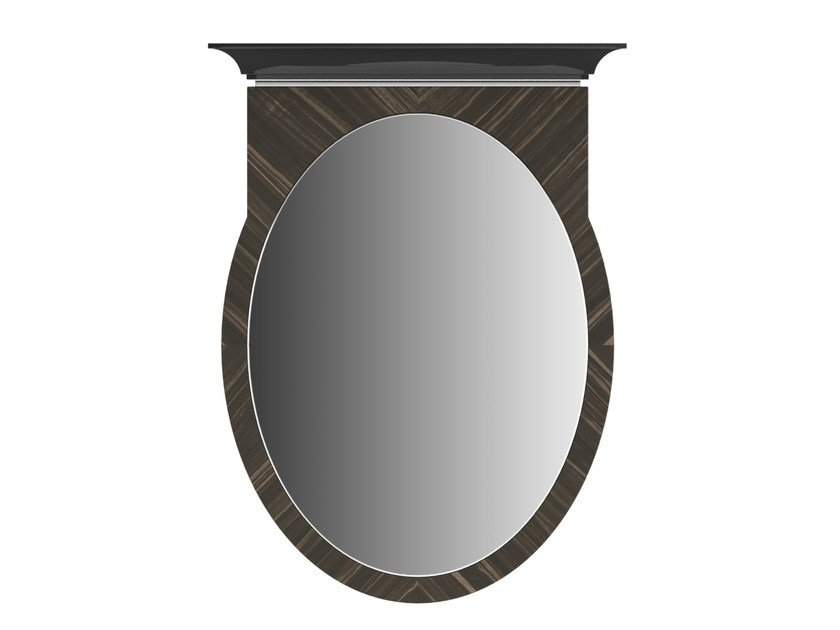 Wall-mounted framed oval mirror KA by Capital Collection