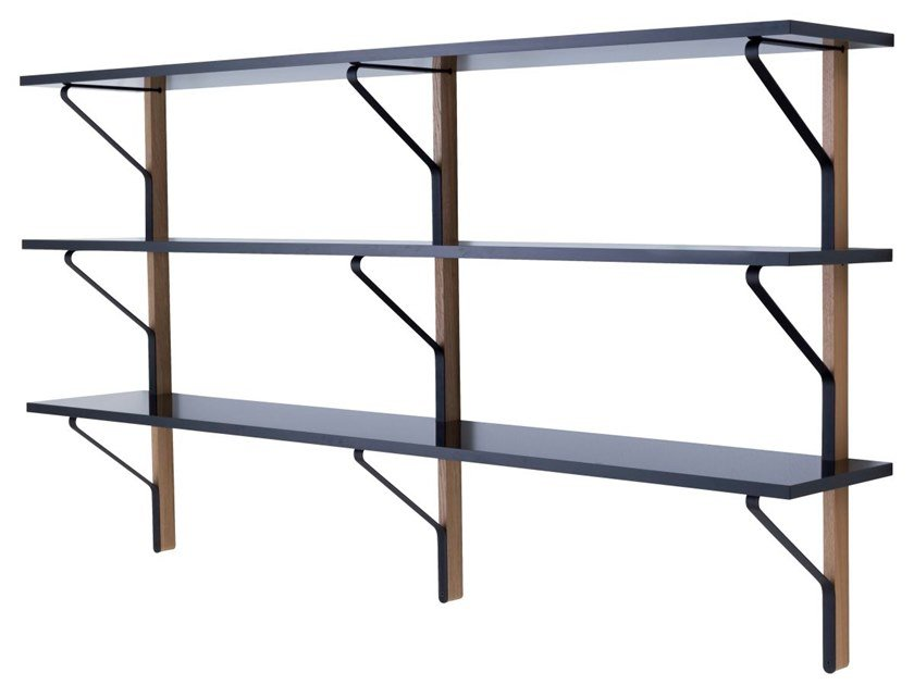 Wall-mounted floating shelving unit KAARI | Floating shelving unit by Artek
