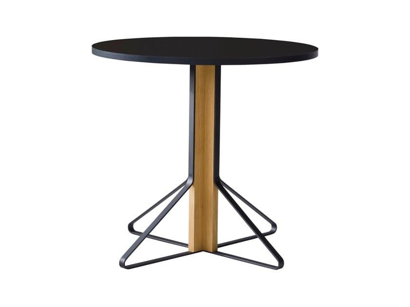 Round wooden table KAARI | Round table by Artek