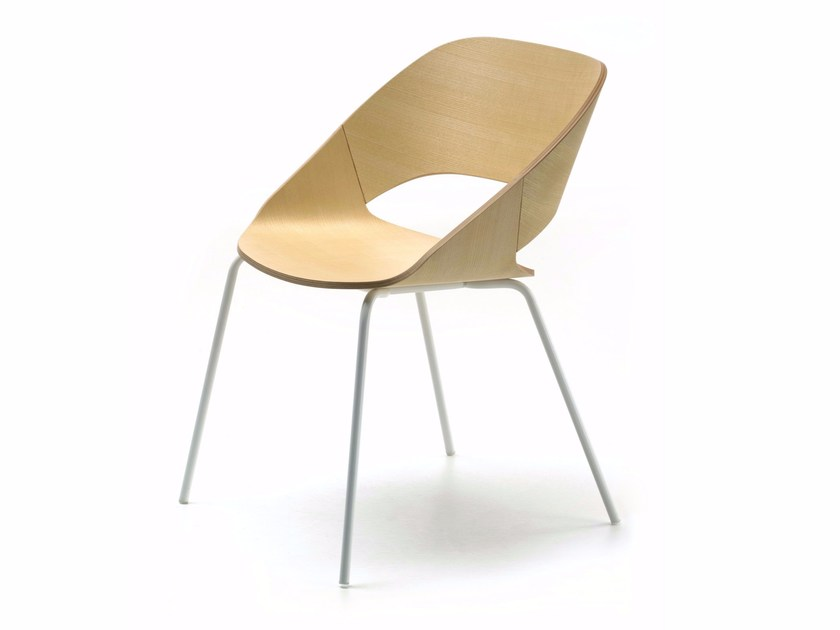 Contemporary style upholstered wooden restaurant chair KABIRA 4L   Restaurant chair by arrmet