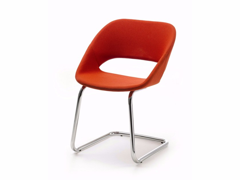 Cantilever upholstered fabric chair KABIRA CL | Cantilever chair by arrmet