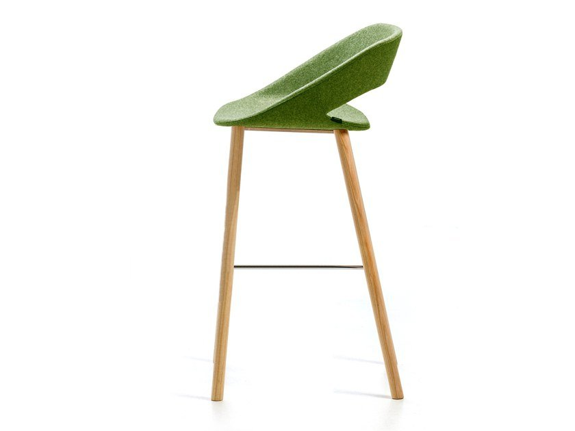 High stool with footrest KABIRA FABRIC ST-4WL by arrmet